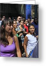Some Young Ladies Enjoying The 2009 Cleansing Of 46th Street Greeting Card