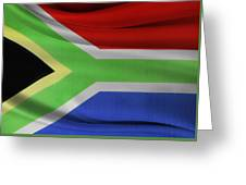 South African Flag  Greeting Card