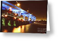 South Beach Bridge Greeting Card