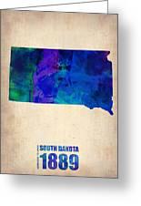 South Carolina Watercolor Map Greeting Card