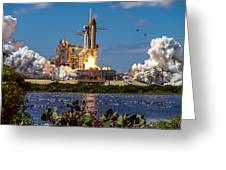 Space Shuttle Atlantis Launch Greeting Card