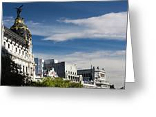 Spain, Madrid, Centro Area Greeting Card