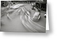 Swirling Motion Greeting Card