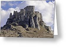 Spissky Hrad Castle Greeting Card