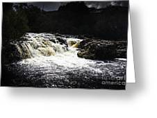 Splashing Australian Water Stream Or Waterfall Greeting Card