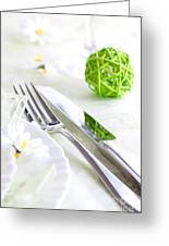 Spring Table Setting Greeting Card