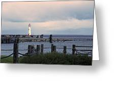 St. Ignace Light Greeting Card