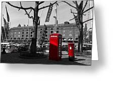 St Katherine's Dock Greeting Card