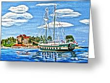 St Lawrence Waterway 1000 Islands Greeting Card