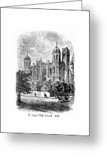 St. Louis High School - 1874 Greeting Card