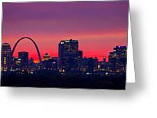 St Louis Sunset Greeting Card