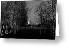 St Paul's With Silver Birches Greeting Card