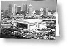 St. Pete Times Forum And Tampa Skyline Greeting Card