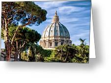 St Peters Basilica Dome Greeting Card