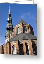 St. Peter's Church Riga Greeting Card