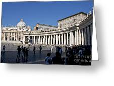 St Peter's Square. Vatican City. Rome. Lazio. Italy. Europe Greeting Card