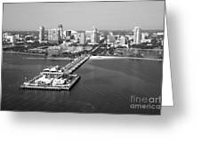 St Petersburg Skyline And Pier Greeting Card