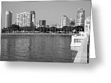 St Petersburg Skyline Greeting Card