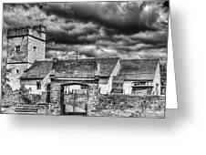 St Sannans Church Bedwellty Mono Greeting Card