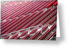 Stadium Seats Greeting Card