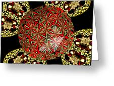 Stained Glass Kaleidoscope Under Glass Greeting Card