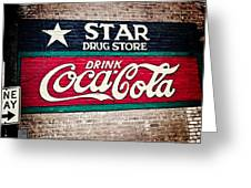Star Drug Store Wall Sign Greeting Card