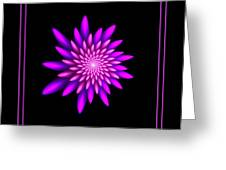 Starburst-32 Framed Black And Pink Greeting Card