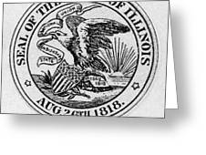 State Seal Illinois Greeting Card