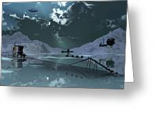 Station 211 Alien Nazi Base Located Greeting Card