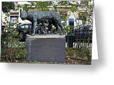 Statue In A Paris Park Greeting Card