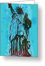 Statue Liberty - Pop Stylised Art Poster Greeting Card