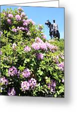 Statue Of 1st Duke Of Wellington At Round Hill Aldershot Greeting Card