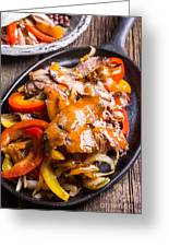 Steak Fajitas Greeting Card