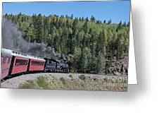 Steam Engine 488 At Osier On The Cumbres And Toltec Scenic Railroad Greeting Card