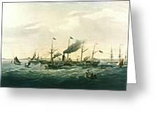 Steamship Greeting Card