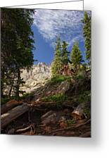 Steep Mountain Hike Greeting Card