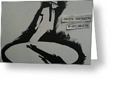 Stencil - Mj Greeting Card