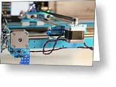 Stepper Motor On Industrial Machine Greeting Card
