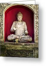 Stone Statue Of Buddha In Bali Indonesia Greeting Card
