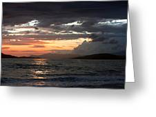 Storm Clouds At Dusk Greeting Card