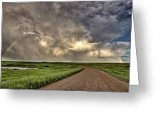 Storm Clouds Prairie Sky Saskatchewan Greeting Card