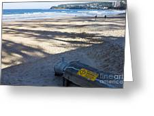 Storm Drainage Pipe On Manly Beach Greeting Card