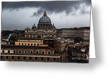 Storm Over St. Peter's  Greeting Card
