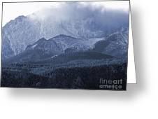 Stormy Peak Greeting Card
