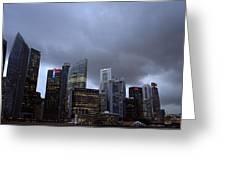 Stormy Singapore Greeting Card