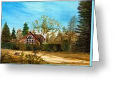 Strawberry Lodge Greeting Card by Dale Jackson