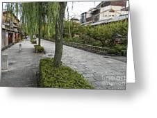 Street In Kyoto Japan Greeting Card