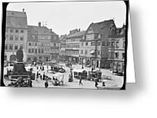 Street Market Coburg Germany 1903 Vintage Photograph Greeting Card