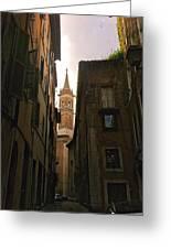 Street Of Rome Greeting Card