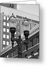 Streetlights - Lansing Michigan Greeting Card